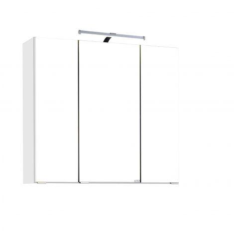 Armoire de toilette Bobbi 70cm modèle 2 3 portes & eclairage LED - blanc