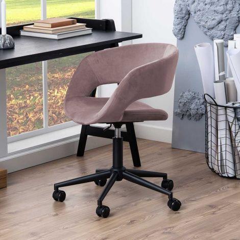 Bureaustoel Dusty - oudroze/zwart