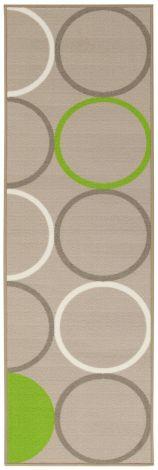 Vloerkleed La Cucina Opty 200x57 Nylon - Beige/groen