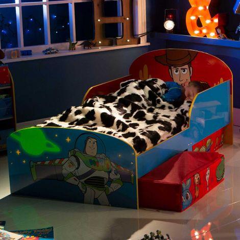 Lit junior à tiroirs Toy Story - bleu/rouge