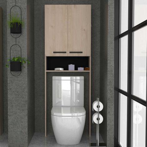 Toilet- en wasmachinekast Dotan - eik
