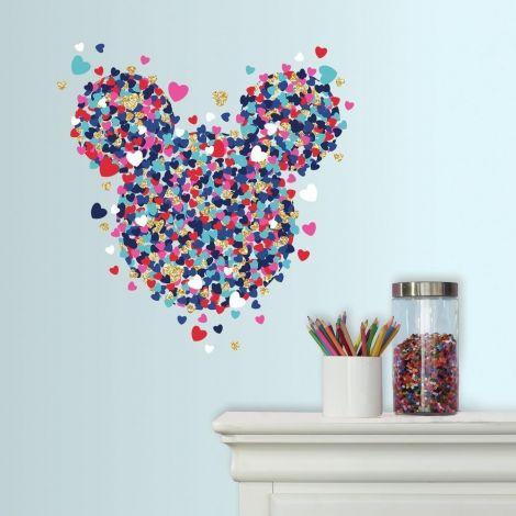 Sticker mural Minnie Mouse Heart Confetti
