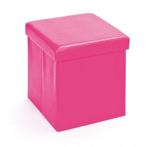 Plooibare poef Setti - roze