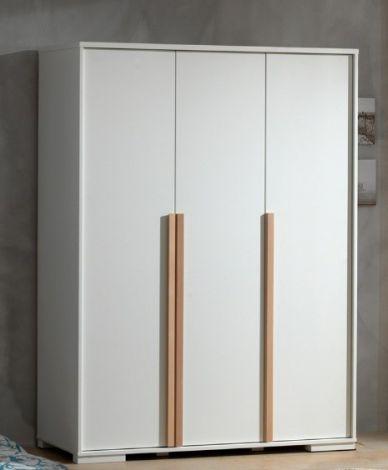 Armoire London 146cm avec 3 portes - blanc
