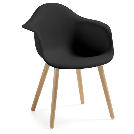 Chaise de salle à manger Kevya - noir