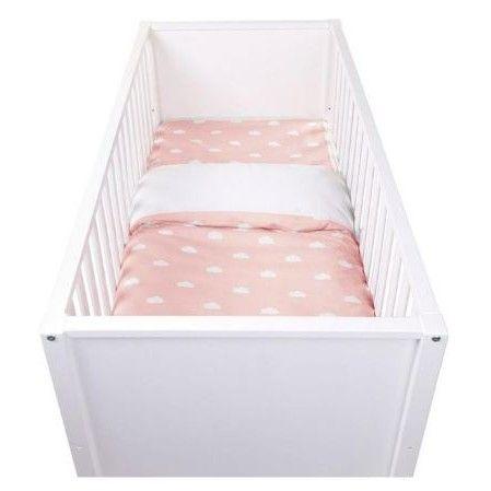 Dekbedovertrek Snoozy Clouds voor babybed - roze