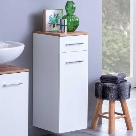 Badkamerkastje Pares 30cm 1 deur & 1 lade - wit