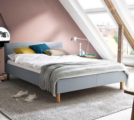 Bed Amber 140x200 - ijsblauw