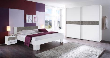 Slaapkamerset Mavic 160x200 - wit/beton