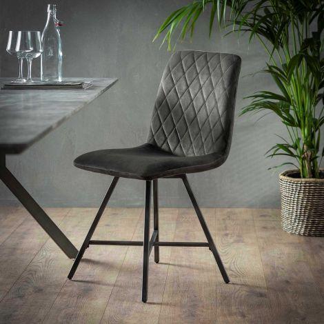 Set de 4 chaises Bailey - anthracite