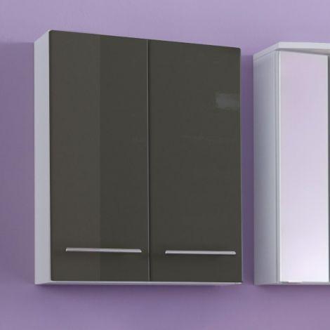 Hangkast Small 50cm 2 deuren - hoogglans grijs
