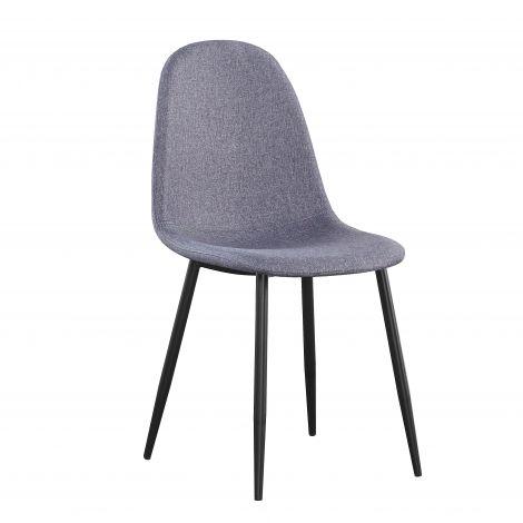 Set van 4 stoffen stoelen Valeska