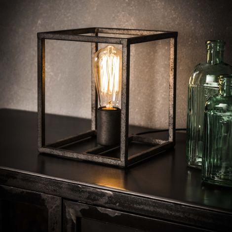 Tafellamp cubic - Oud zilver