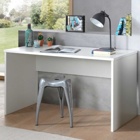 Table de bureau London 140cm - blanc