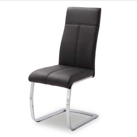 Lot de 2 chaises cantilever Elio - noir