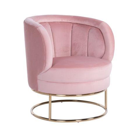 Fauteuil Felicia - roze/goud