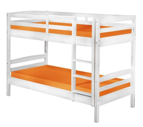 Stapelbed David 90x190 - white wash