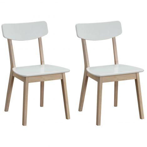 Set van 2 stoelen Anso - wit