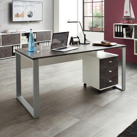 Bureau Aldo 158cm - gris/basalte