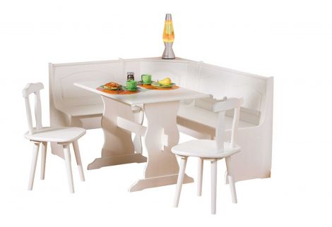 Eethoek set Abaco - wit