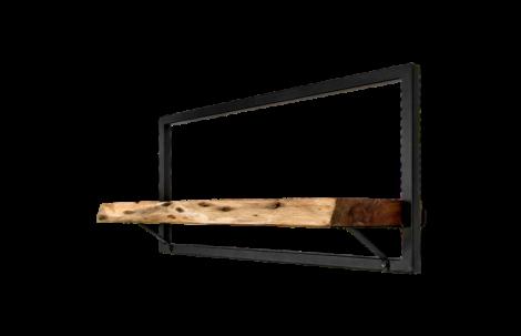 Étagère murale Levels Live Edge 70x32cm - acacia/fer