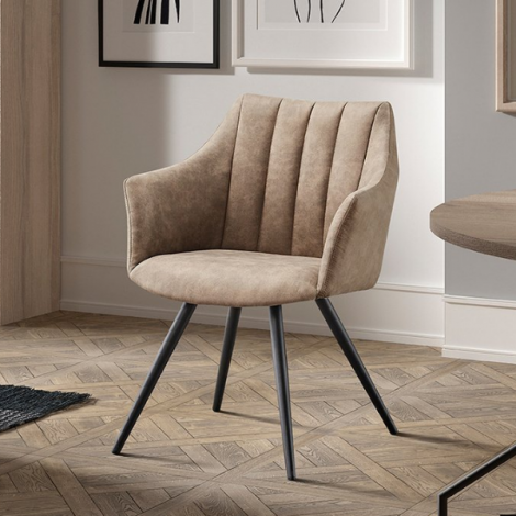 Set van 2 stoelen Romana - lichtgrijs