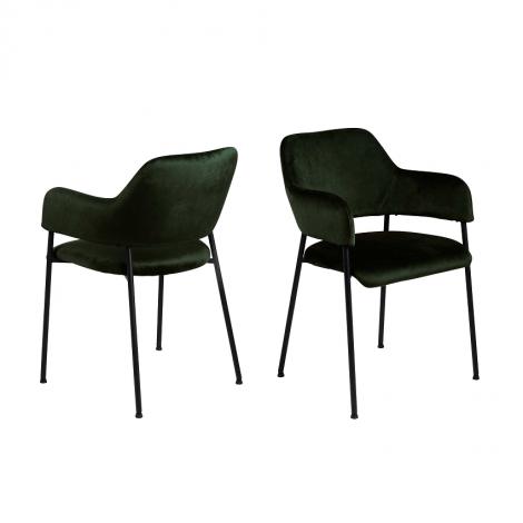 Set van 2 stoelen Lilou - groen