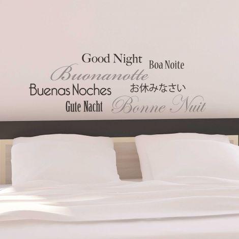 Muursticker Good Night