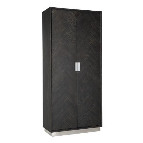 Wandkast Bony 100cm 2 deuren - zwart/zilver