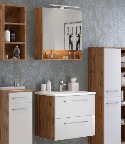Ensemble salle de bains Sefa 1 - chêne/blanc