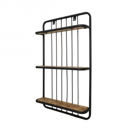 Wandplank Eran 50x80cm - mangohout/ijzer