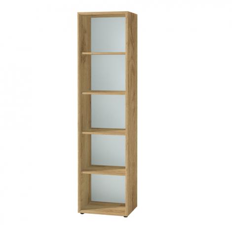 Bibliothèque Mouna 50cm - chêne/blanc