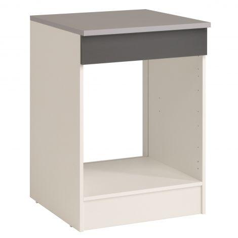 Onderkast Eko 60 cm voor oven en kookplaat - grijs