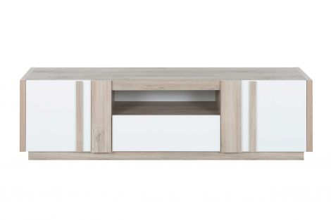 Tv-meubel Gaston 180cm - lichte Kronberg eik/wit