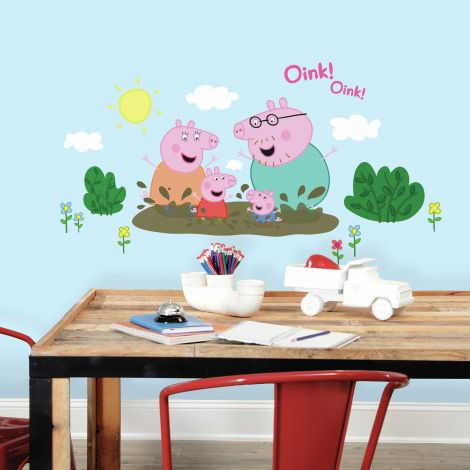 Stickers muraux Peppa Pig Family