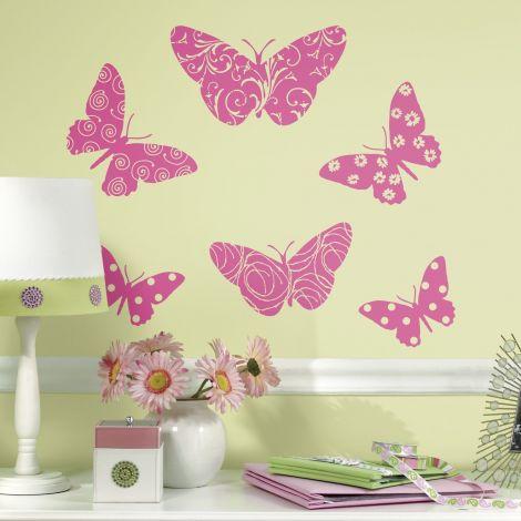 RoomMates muurstickers - Vlinders