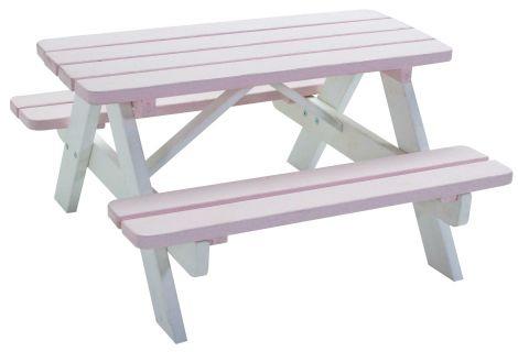 Kinder picknicktafel Minnie – roze