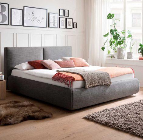 Bed met opbergruimte Celine 180x200 - antraciet (incl. matras Lucca H2)