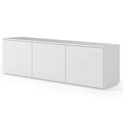 Dressoir Join 180cm laag model met 3 deuren - mat wit