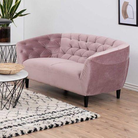 2-zitbank Isiah 150cm - roze