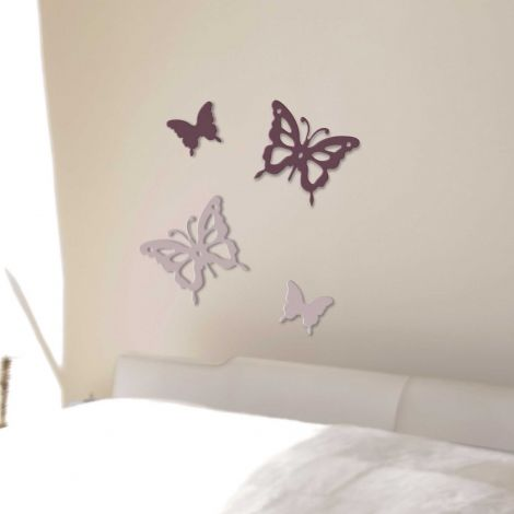 Muurstickers 3D Vlinders - schuimsticker