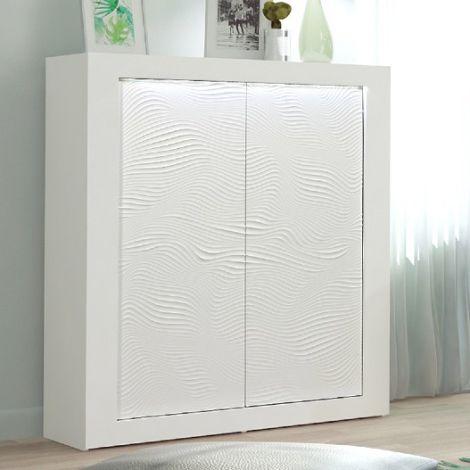 Buffetkast Kaia 121cm 2 deuren - hoogglans wit