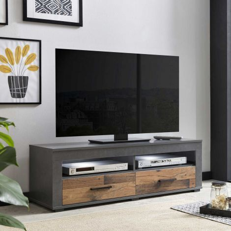 Tv-meubel Sami 2 laden 120cm - hout/grafiet