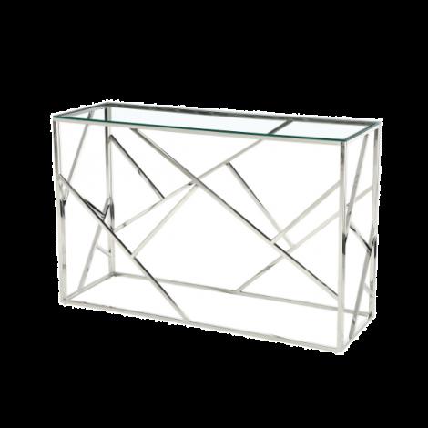 Sidetable Greenland 120cm - zilver/glas