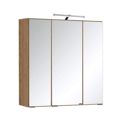 Spiegelkast Bobbi 60cm model 2 3 deuren & ledverlichting - eik