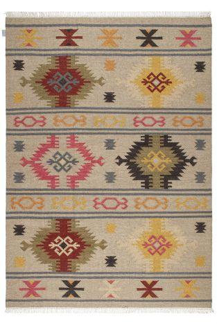 Tapis Kilim Sivas 9 230x160 Traditionnel Tissé - Multicouleur