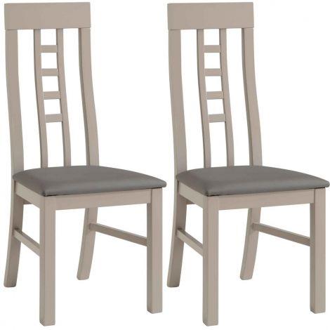 Lot de 2 chaises salle à manger Malori