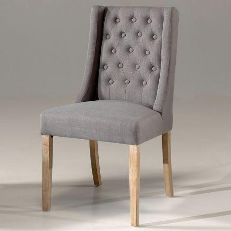 Set van 2 stoelen Brandon - grijs