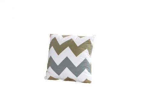 Coussin 30x30 - zigzag taupe