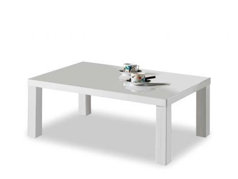 Salontafel Odine 140x80 - hoogglans wit